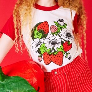5xl Big Bud Press strawberry / Strawbaby tee